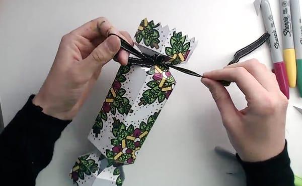 How to make a DIY Christmas Cracker - Step 16