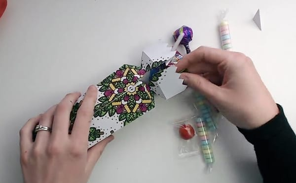 How to make a DIY Christmas Cracker - Step 17