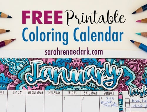 Free Printable January Calendar | PLUS How to draw shadows on coloring pages