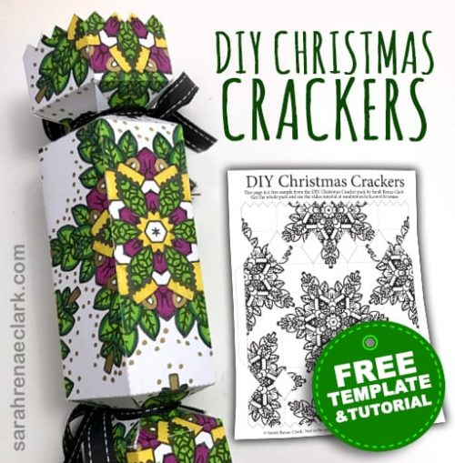 Free DIY Christmas Cracker Template - Make your own Christmas crackers!