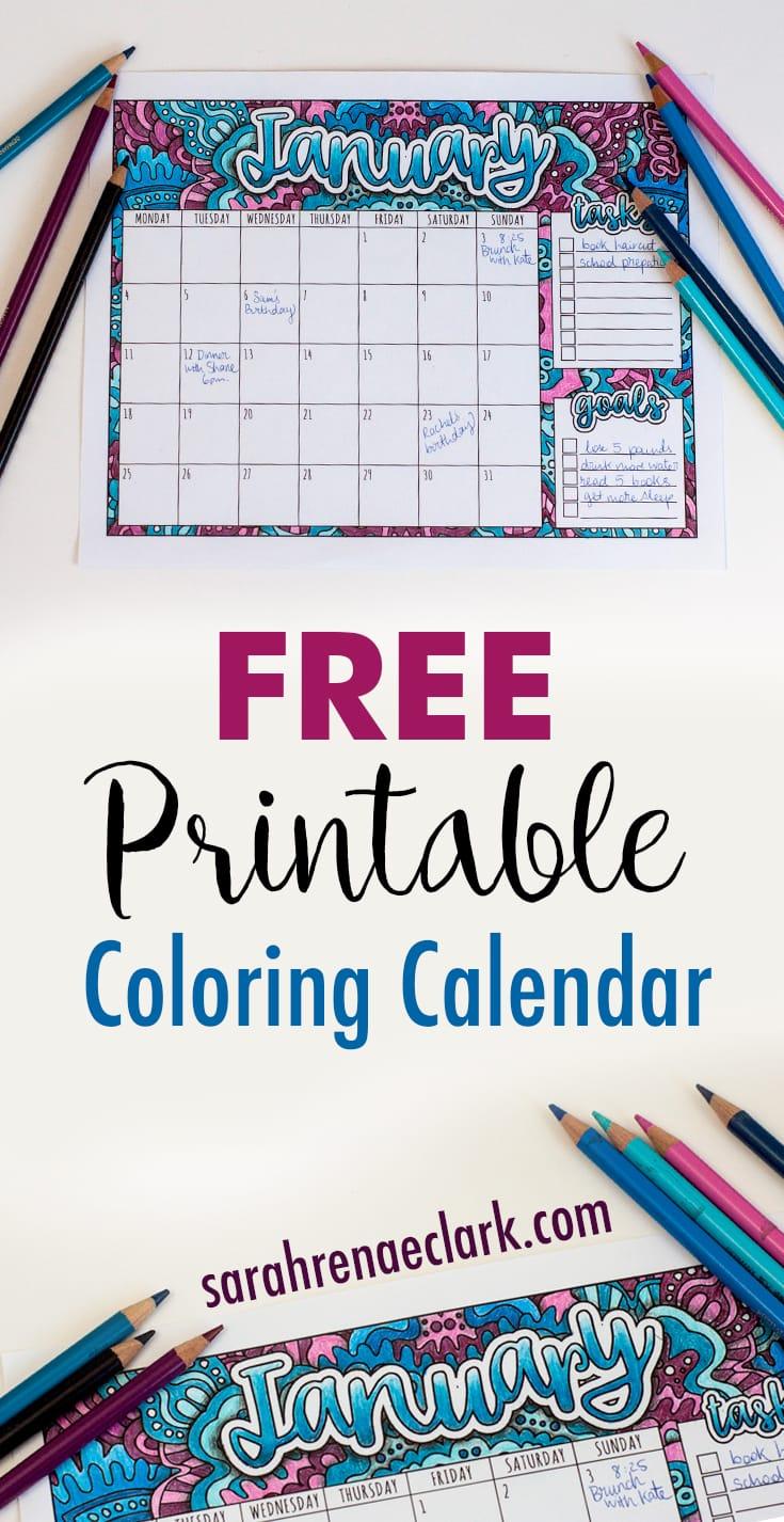 2017 Free Printable Calendar With Bonus How To Draw