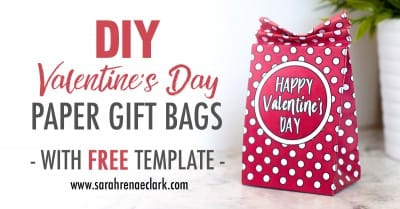DIY Valentine's Day Paper Gift Bags   Free Template and Tutorial   Learn how to make your own cute coloring page paper gift bags - what a great gift idea for Valentine's Day! Watch the video instructions and download your free printable template at www.sarahrenaeclark.com  Valentine's Day Craft, DIY Valentine's Day, DIY paper gift bag, DIY gift bag, Valentine's Day activity, DIY craft, free craft template, DIY gift bag tutorial, video tutorial, free template, free coloring page, free Valentine's Day coloring pages, free printable, printable template