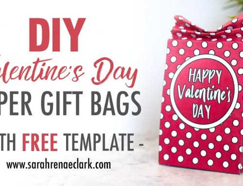 DIY Valentine's Day Paper Gift Bags | Free Template and Tutorial