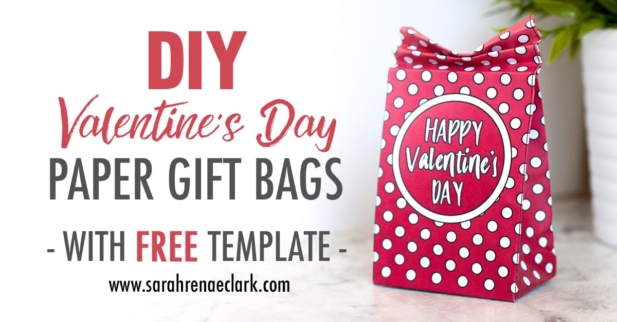 DIY Valentine's Day Paper Gift Bags | Free Template and Tutorial | Learn how to make your own cute coloring page paper gift bags - what a great gift idea for Valentine's Day! Watch the video instructions and download your free printable template