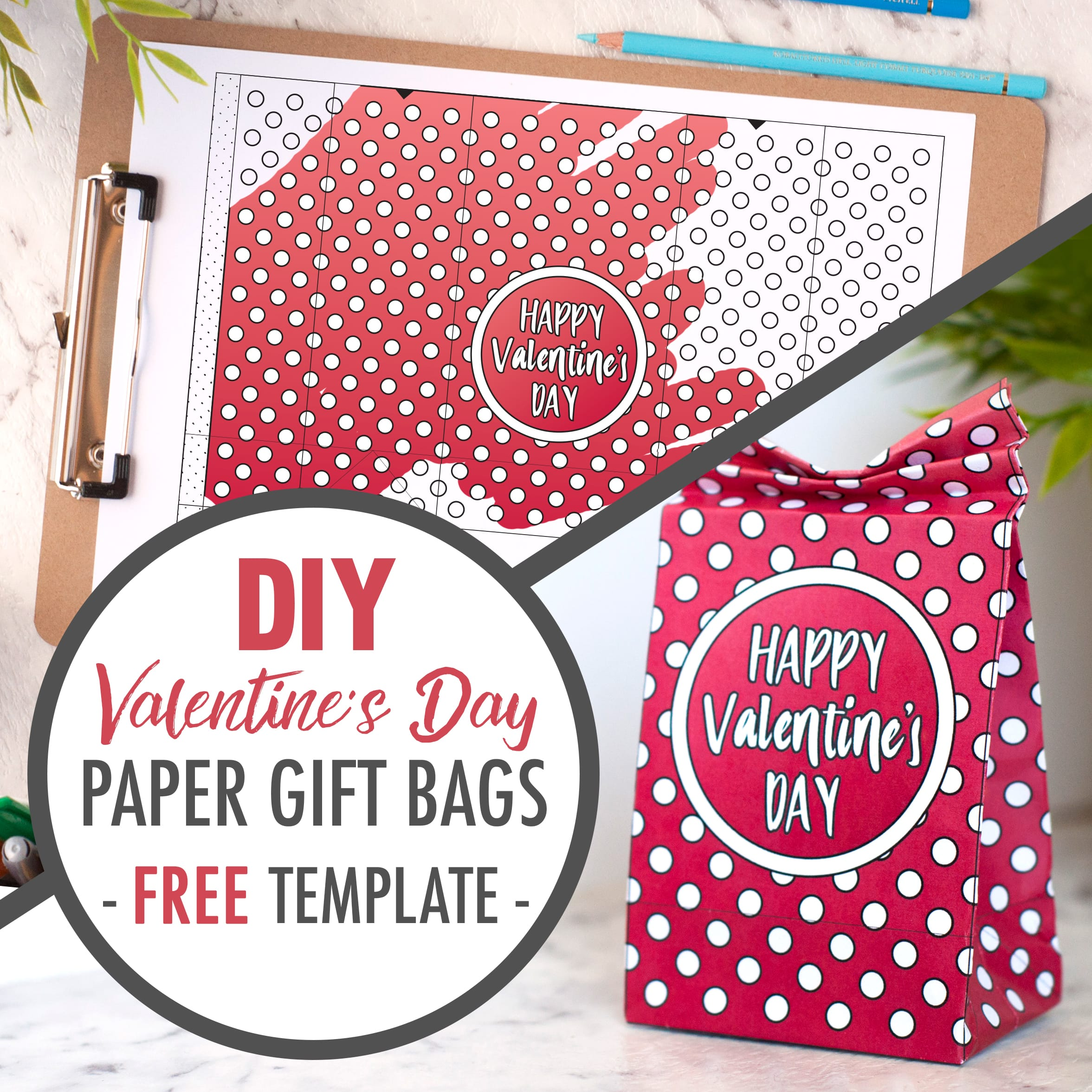 DIY Valentine's Day Paper Gift Bags | Free Template and Tutorial | Learn how to make your own cute coloring page paper gift bags - what a great gift idea for Valentine's Day! Watch the video instructions and download your free printable template at www.sarahrenaeclark.com| Valentine's Day Craft, DIY Valentine's Day, DIY paper gift bag, DIY gift bag, Valentine's Day activity, DIY craft, free craft template, DIY gift bag tutorial, video tutorial, free template, free coloring page, free Valentine's Day coloring pages, free printable, printable template