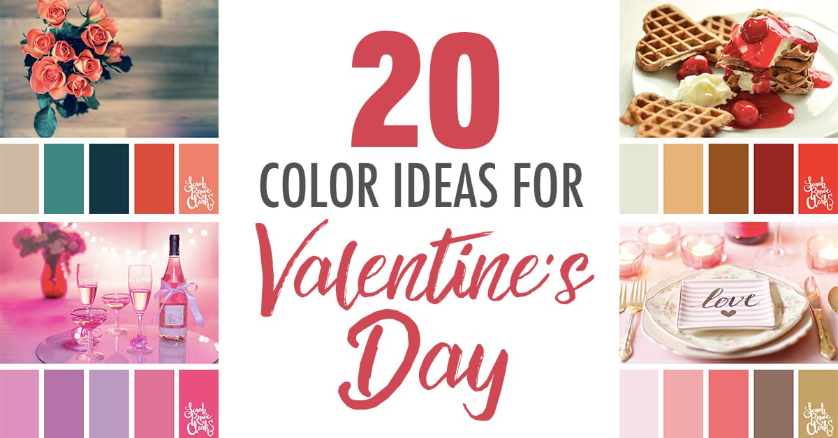 20 Color Palettes For Valentine S Day Color Schemes For