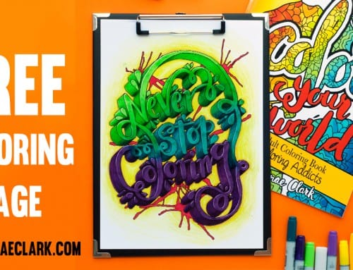 Never Stop Coloring – Free coloring page