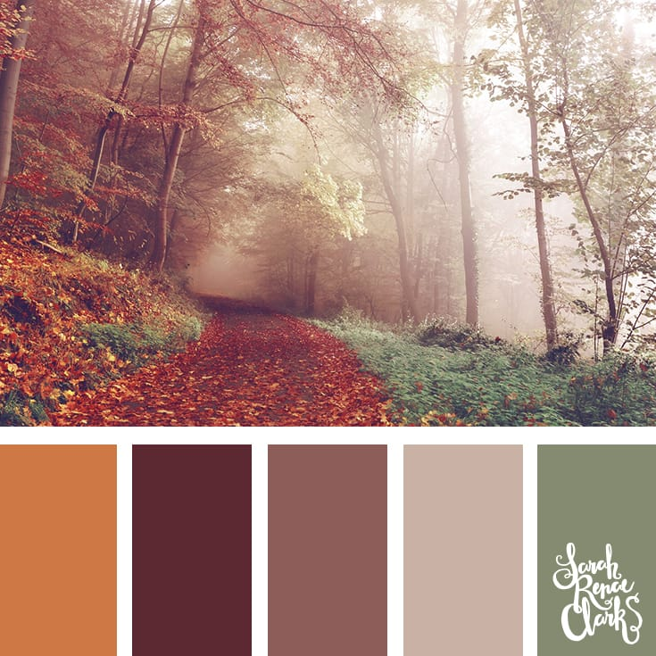 Wanderlust color inspiration - I love this moody color scheme! | Click for more color combinations inspired by beautiful landscapes and other coloring inspiration at https://sarahrenaeclark.com | Colour palettes, colour schemes, color therapy, mood board, color hue