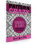 Pattern Crazy: Hundreds of Hearts - Adult Coloring Book | Find more Valentine's coloring page craft templates at www.sarahrenaeclark.com| Valentine's Day Craft, DIY Valentine's Day, Valentine's Day activity, DIY craft, free craft template, printable coloring pages