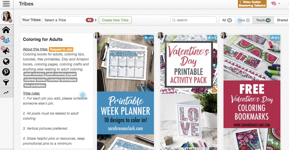 Join a Tailwind Tribe to collaborate with other Pinners in your niche | Click for more Pinterest marketing tips | www.sarahrenaeclark.com