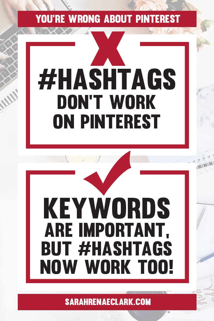 #hashtags now work on Pinterest! But don't go overboard with them, and don't forget your keywords are still more important! Click to read about 10 #Pinterest marketing myths!