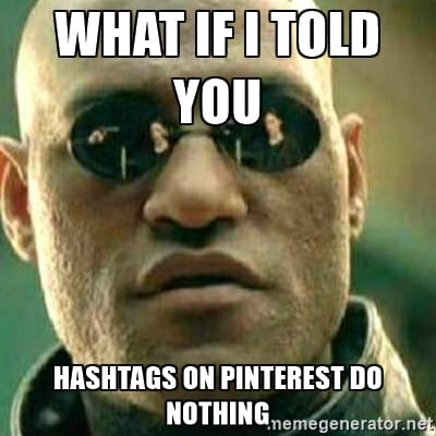 Stop filling your descriptions with hashtags! Use descriptive keywords instead | Pinterest Marketing by www.sarahrenaeclark.com