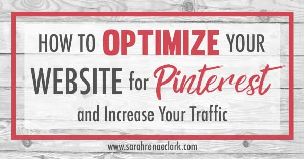 Pinterest can be a huge traffic source for your website. In this post, I'll show you how to verify your website on Pinterest, how to activate Rich Pins, how to set up social share icons, how to install Pinterest widgets, how to create hidden pinterest images and more. www.sarahrenaeclark.com