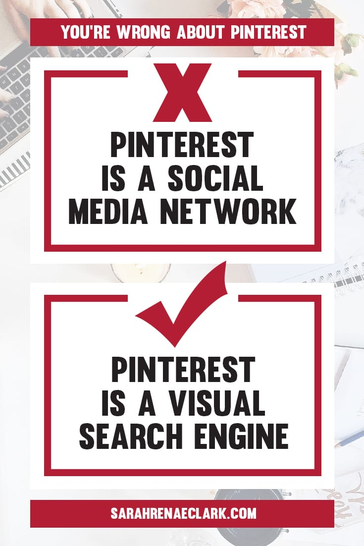 Pinterest is not a social media network! | Find out why these 10 Pinterest marketing mindsets are holding you back from growing on Pinterest | Free Pinterest marketing blog series by Sarah Renae Clark