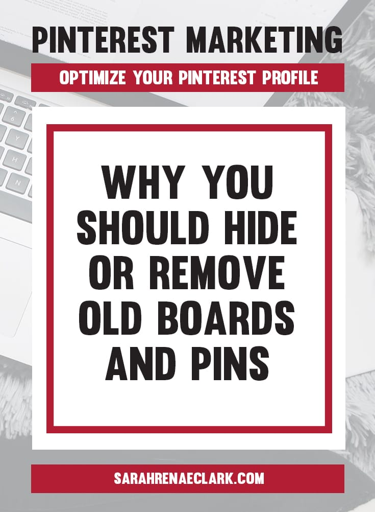 Your fans don't need to see your personal recipes or house ideas... let's hide them! | Pinterest marketing tips to optimize your Pinterest Profile and Create an Account That Attracts Followers