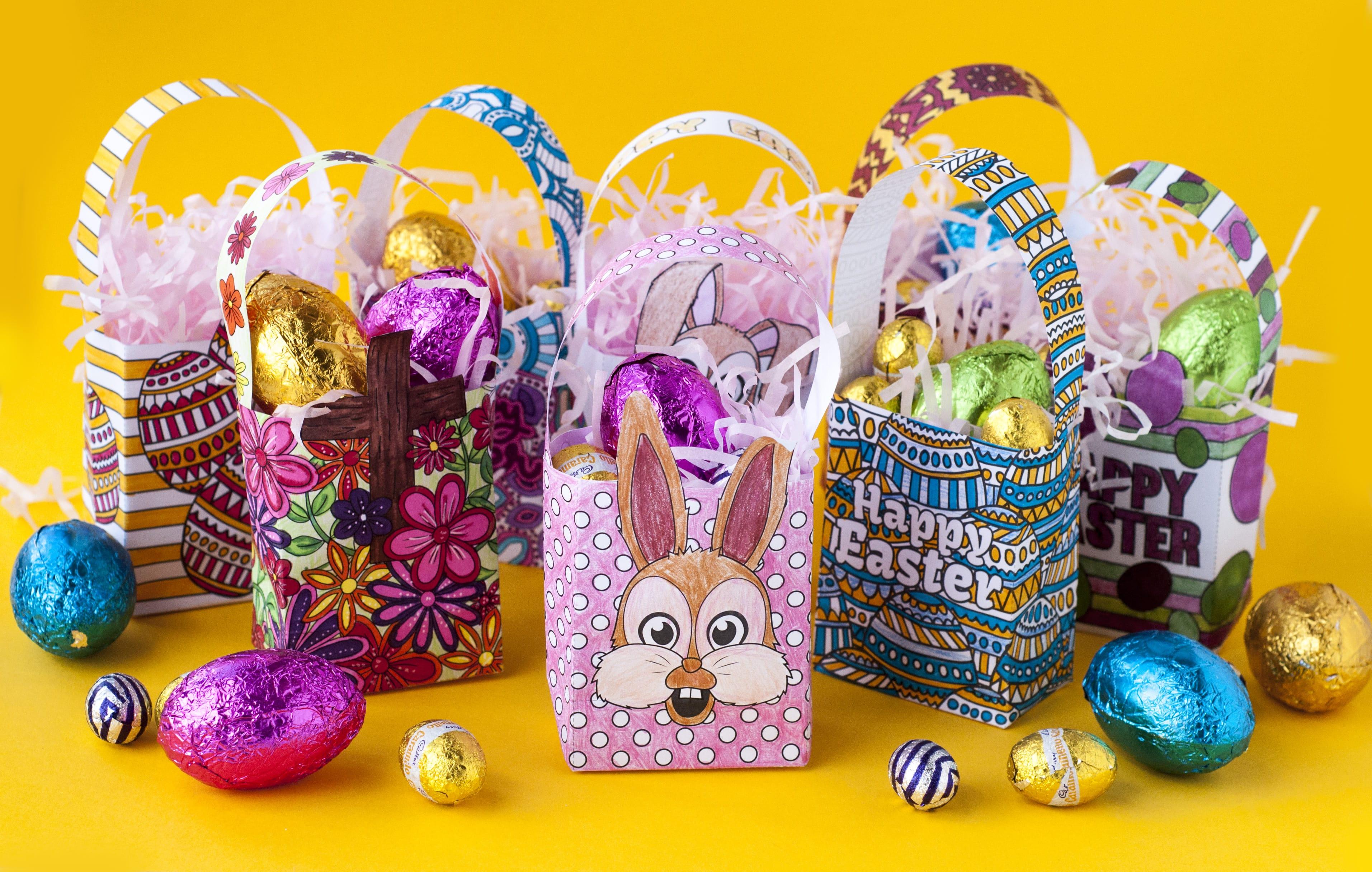 how to make a mini easter gift bag free template sarah renae