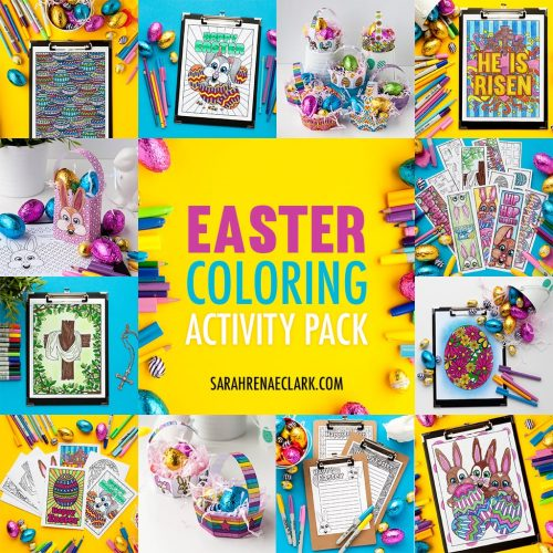 Easter coloring page printable activities