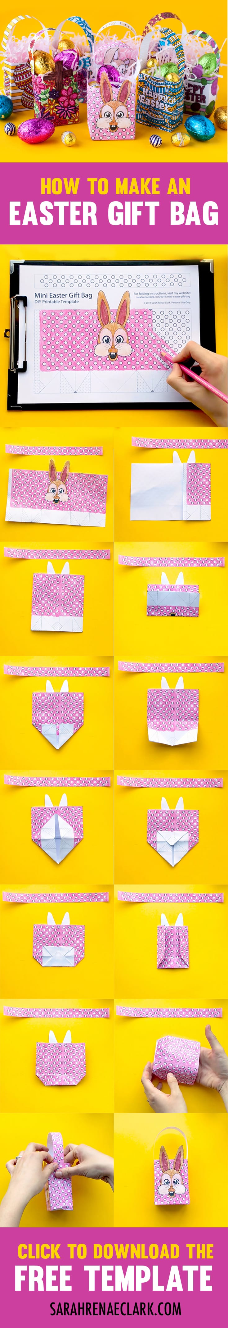 How to make a mini easter gift bag free template sarah renae make your own mini easter gift bags with this free template and easy tutorial by sarah negle Image collections