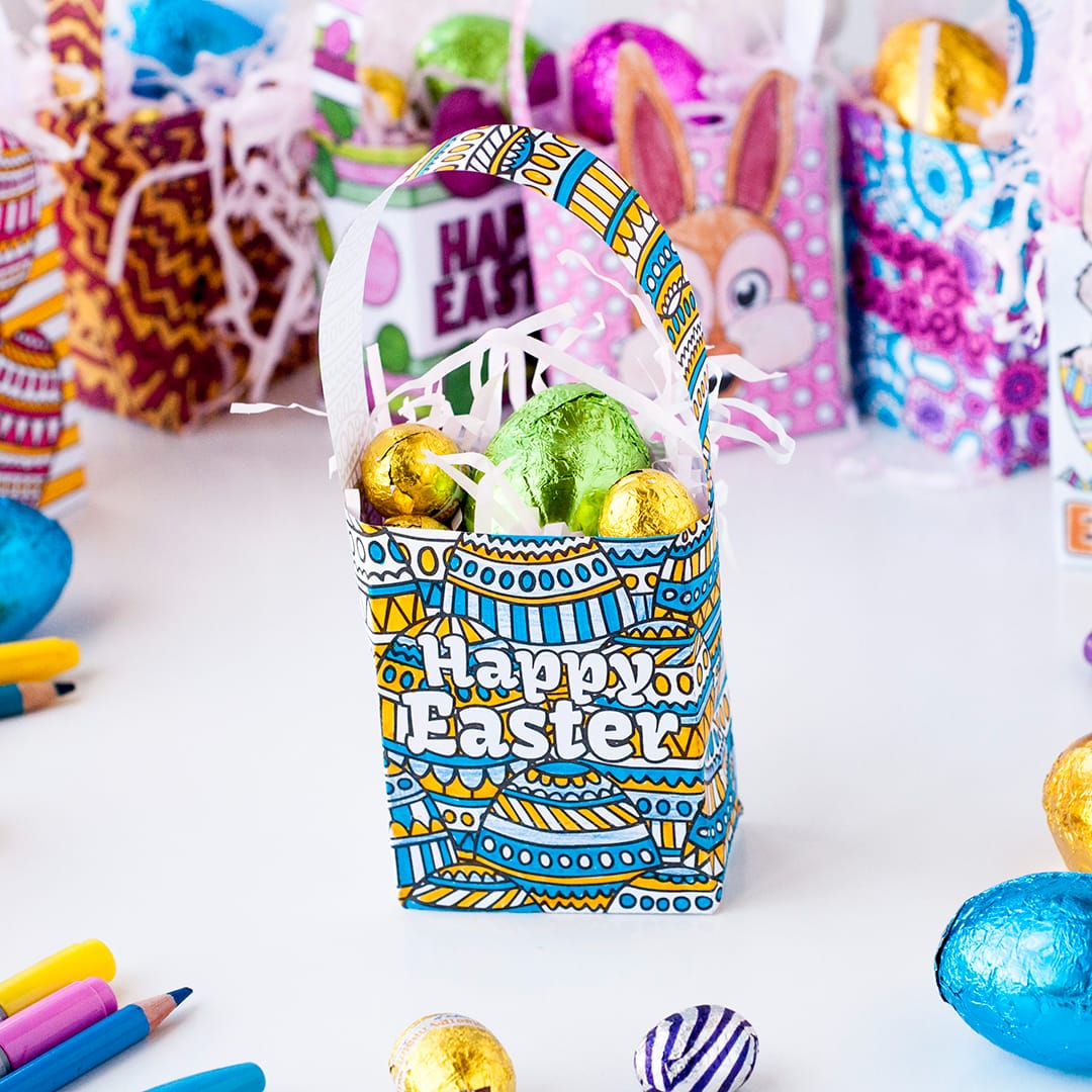 Diy easter gift bag templates set of 8 sarah renae clark these mini easter gift bags are easy to make negle Images