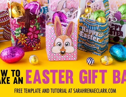 How to Make a Mini Easter Gift Bag | Free Template