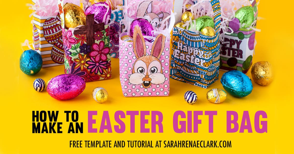 Make your own mini easter gift bags with this free template and easy make your own mini easter gift bags with this free template and easy tutorial by sarah renae clark negle Image collections