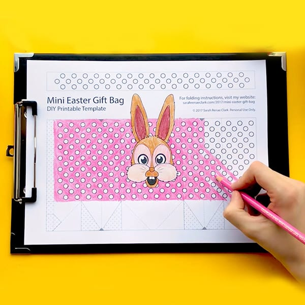 How to make a mini easter gift bag free template sarah renae make your own mini easter gift bags with this free template and easy tutorial by sarah negle Choice Image