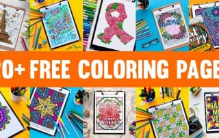 Free adult coloring pages! Get 20+ free adult coloring pages and printables from www.sarahrenaeclark.com | Free coloring pages for adults | Free coloring pages for grown ups | Free grown-up colouring pages | Free seasonal coloring pages