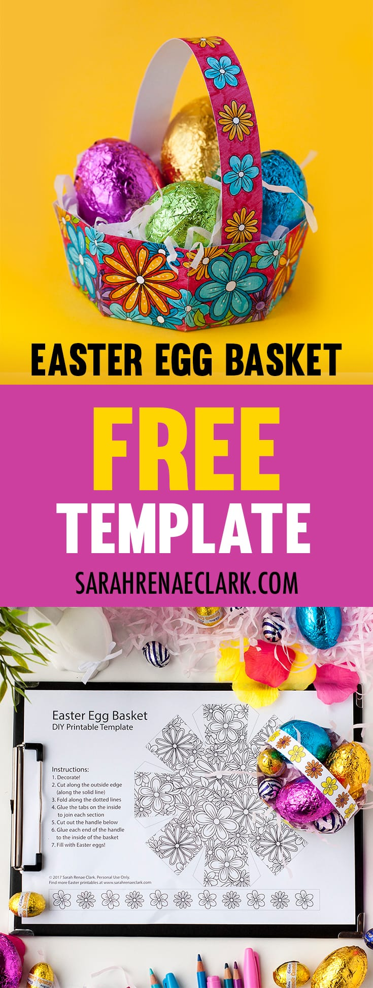 Easter basket to make free download.