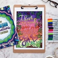 I have so much to be grateful for - colored by Debbie Shepard from Coloring Affirmations For Every Mom - An adult coloring book with 30 affirmation coloring pages for moms   A great Mother's Day gift idea or Baby Shower gift idea!   More printable coloring books at www.sarahrenaeclark.com