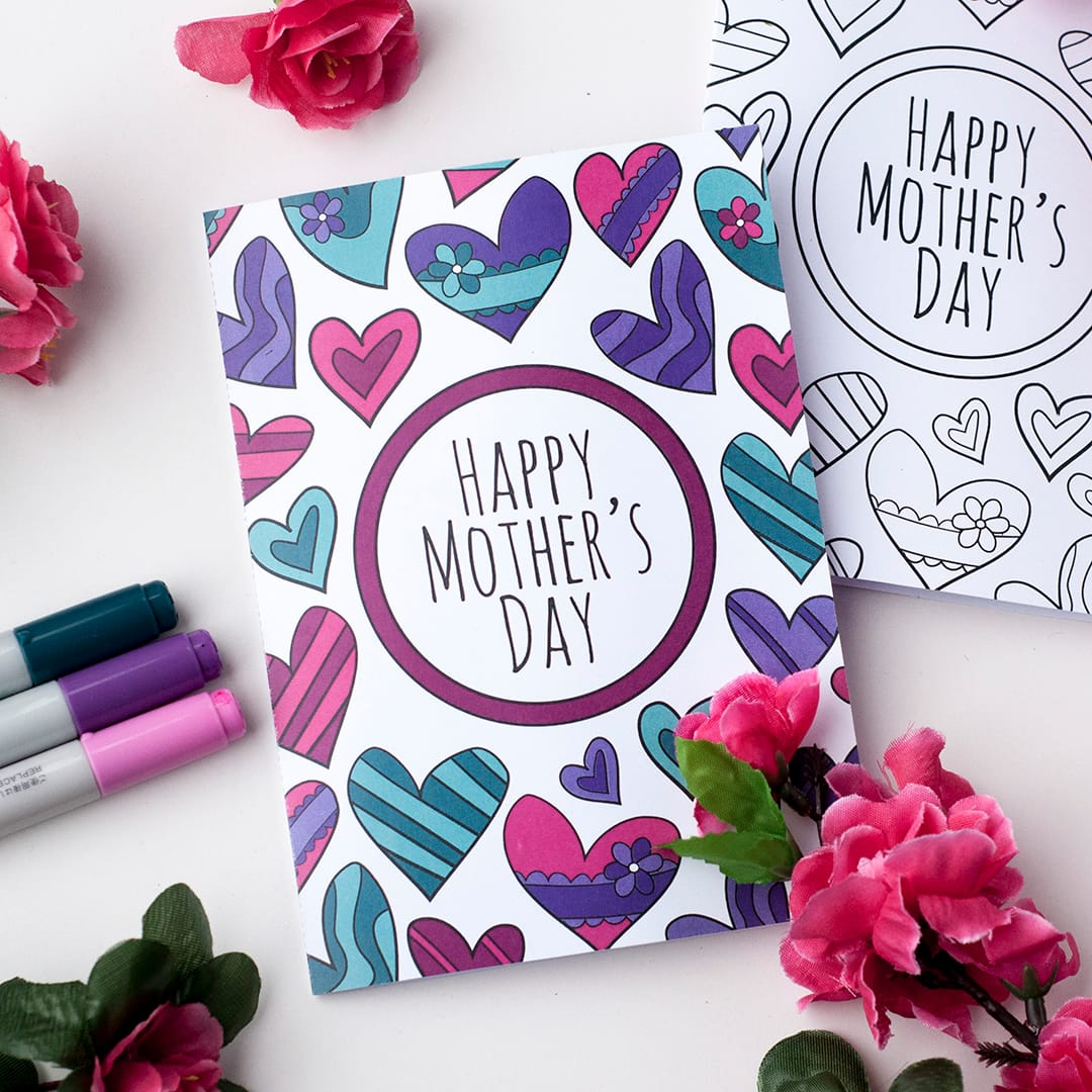 Free Mothers Day Coloring Card Sarah Renae Clark Coloring Book - Free mother's day card templates