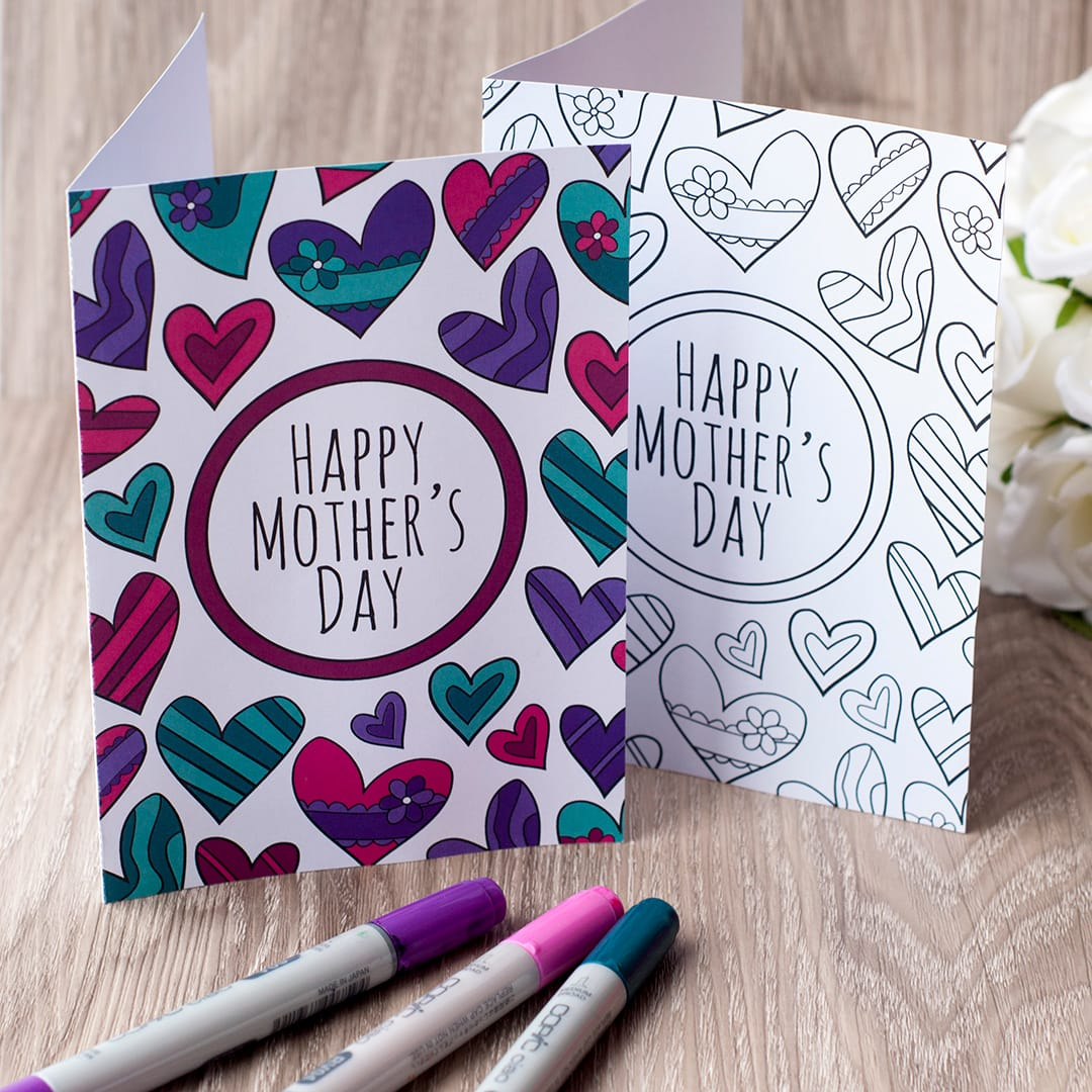 graphic relating to Free Printable Funny Mothers Day Cards called Cost-free Moms Working day Coloring Card