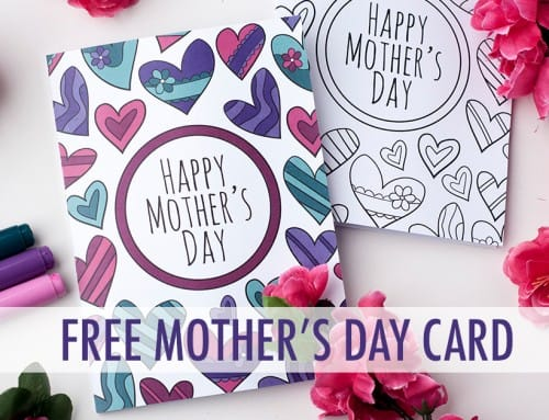 Free Mother's Day Card   Printable Template