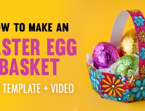 How to Make an Easter Egg Basket | Free Template