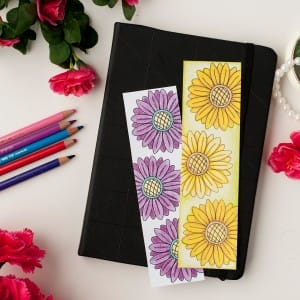 Color and make these Mother's Day bookmarks for a special mom! Includes 12 printable bookmarks to color in | Find more Mother's Day printables and coloring pages at https://sarahrenaeclark.com/shop/cat/seasonal/mothers-day/