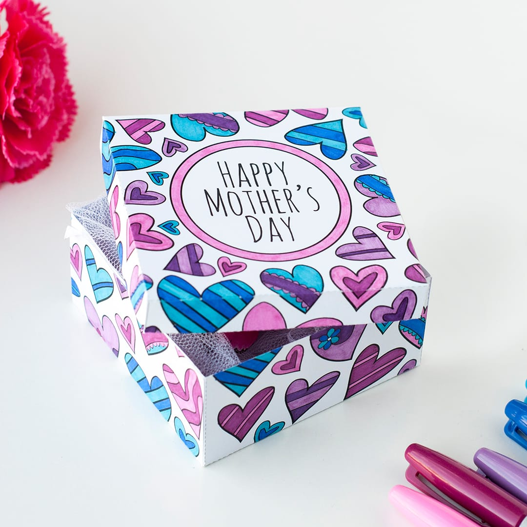 Diy Mother S Day Gift Box Template