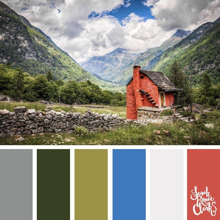 What a beautiful view! | Click for more color combinations and color palettes inspired by the Pantone Fall 2017 Color Trends, plus other coloring inspiration at http://sarahrenaeclark.com | Colour palettes, colour schemes, color therapy, mood board, color hue