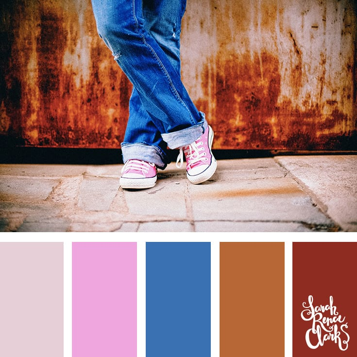 Cute color combo! | Click for more color combinations and color palettes inspired by the Pantone Fall 2017 Color Trends, plus other coloring inspiration at http://sarahrenaeclark.com | Colour palettes, colour schemes, color therapy, mood board, color hue