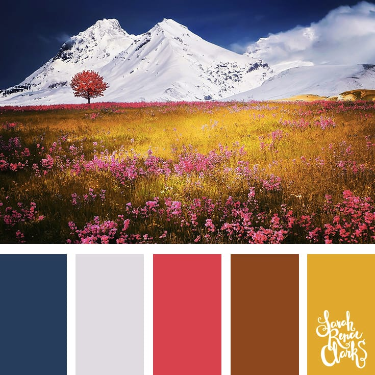 What a view! So colorful | Click for more color combinations and color palettes inspired by the Pantone Fall 2017 Color Trends, plus other coloring inspiration at http://sarahrenaeclark.com | Colour palettes, colour schemes, color therapy, mood board, color hue