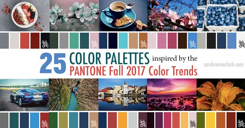 25 Color Palettes Inspired by the Pantone Fall 2017 Color Trends | See all 25 color schemes for inspiration at https://sarahrenaeclark.com