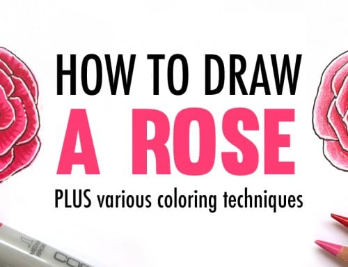 How to Draw a Rose | Drawing Tutorial and Coloring Techniques