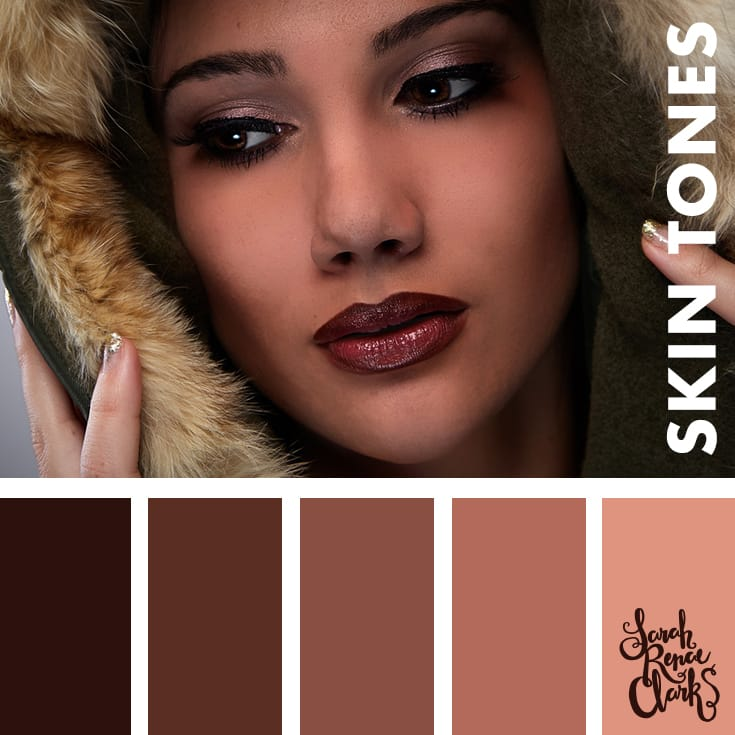 Skin color palette | Learn how to color skin tones with colored ...