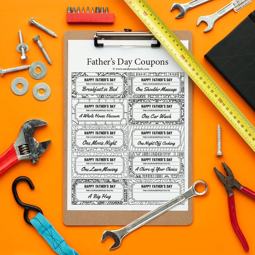Spoil Dad With These Printable Fathers Day Coupons Find More Printables And Free
