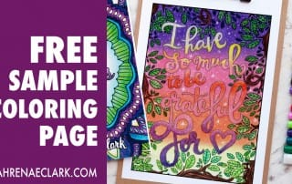 """This free coloring page is a lovely reminder to be thankful in every situation. Get it free from www.sarahrenaeclark.com 