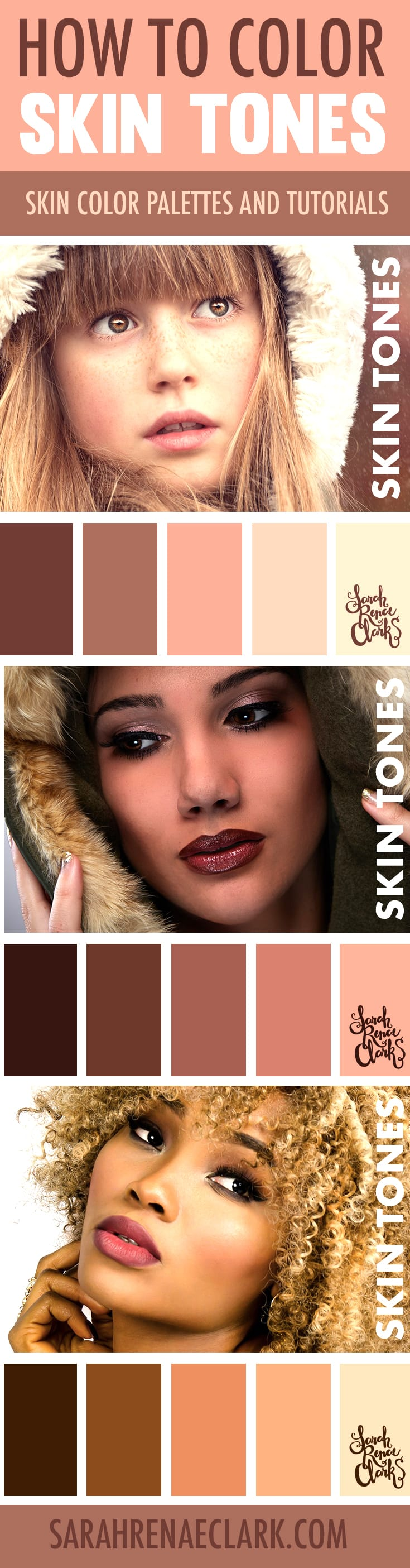 How to Color Skin Tones | 10 Video Tutorials on Skin Coloring ...