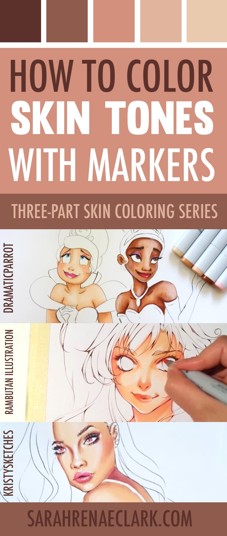 How to Color Skin Tones | 10 Video Tutorials on Skin