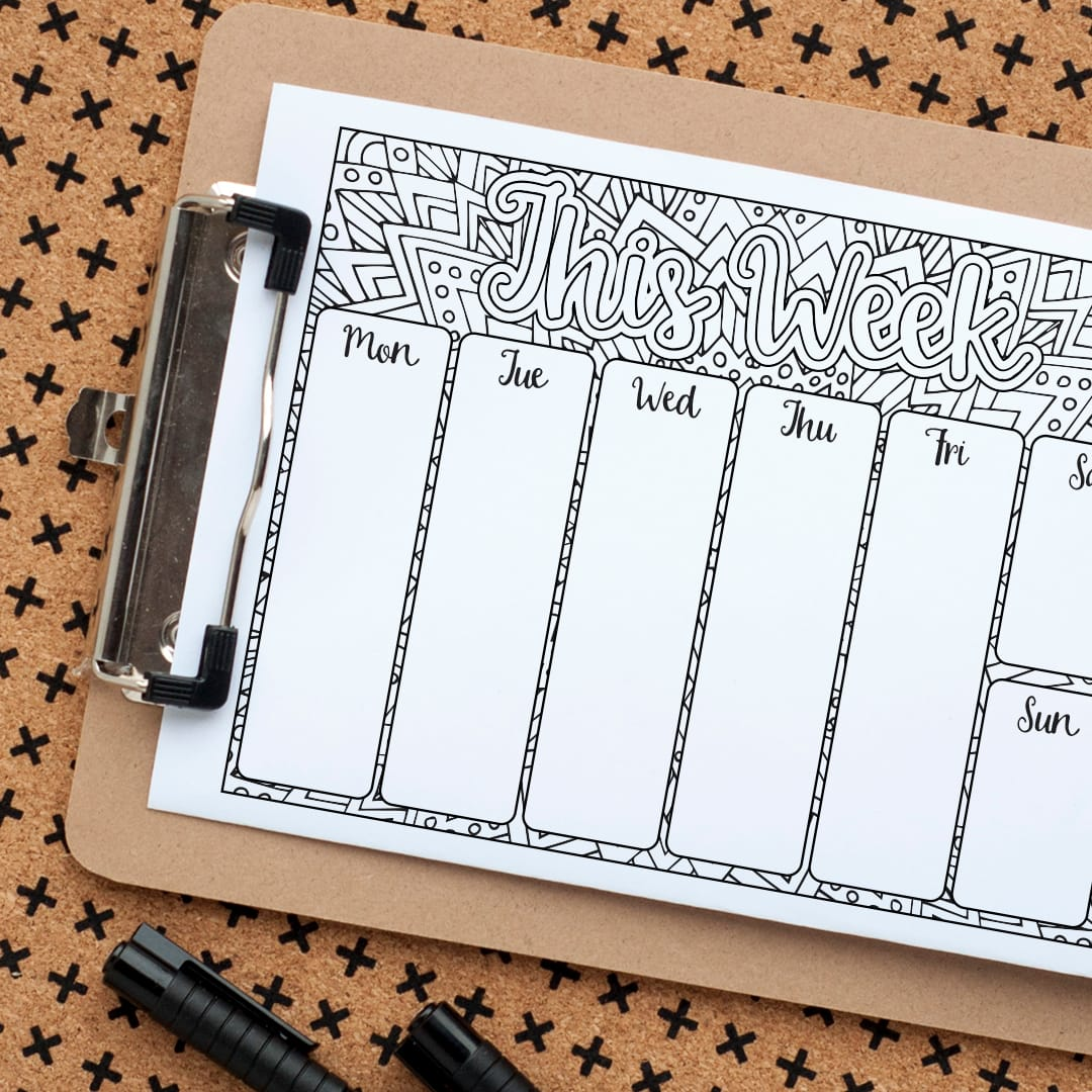 Get organized with this printable weekly planner PDF | Track your chores, goals, weekly schedule, appointments, to do list, habits, etc with this printable planner!