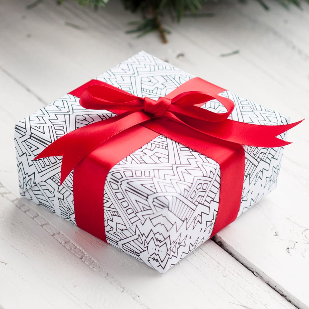 graphic regarding Printable Gift Box referred to as Printable Xmas Wrapping Paper 8 Pack