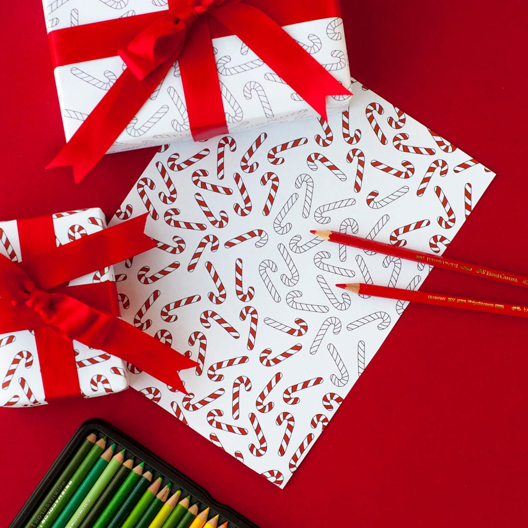 image relating to Christmas Printable Paper referred to as Printable Xmas Wrapping Paper 8 Pack