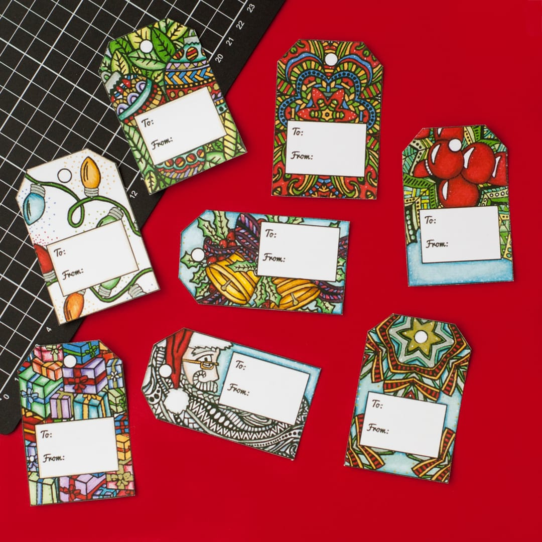 DIY Christmas Gift Tags 8 Pack