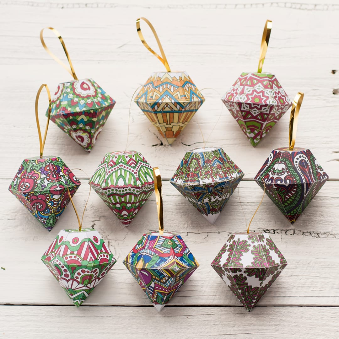 Diy Christmas Ornaments 10 Pack Sarah Renae Clark